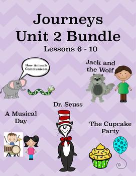 Journeys Unit 2 Bundle Tic Tac Toe Activities