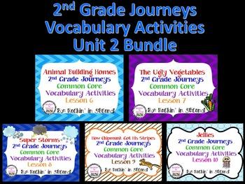 Journeys Unit 2 Bundle Vocabulary Activities 2nd grade