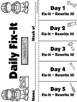 Journeys Unit 2 Daily Fix-It Foldables & Centers -1st Grade