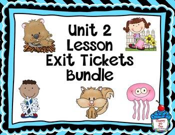 Journeys-Unit 2 Exit Tickets Bundle