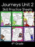 Journeys Unit 2 (Fourth Grade): Skill Practice Sheets
