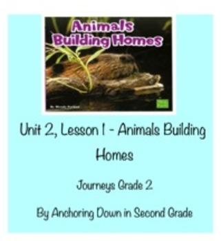 Journeys Unit 2, Lesson 6 Animals Building Homes Smartboard Activity