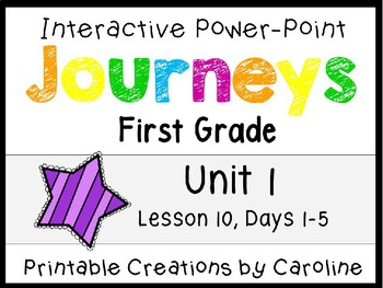 Journeys Unit 2 Lesson 10 Interactive Power Point, First Grad