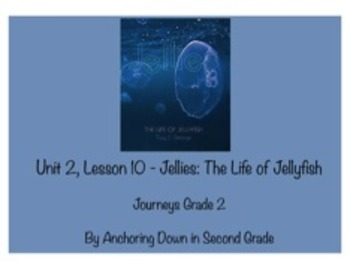 Journeys Unit 2, Lesson 10 Jellies: The Life of a Jellyfish Smartboard Activity