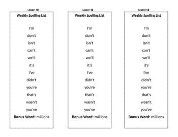 Journeys Unit 2 Lesson 10 Spelling List