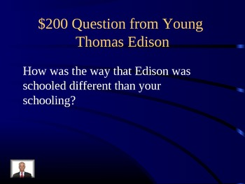 Journeys Unit 2 Lesson 10 Young Thomas Edison Jeopardy