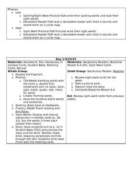 Journeys Unit 2 Lesson 6 Lesson Plan