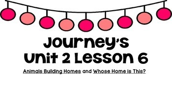 Journeys Unit 2 Lesson 6 Vocabulary Introduction PPT