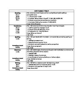 Journeys Unit 2 Lesson 7 - 5 Day Lesson Plan