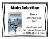 Journey's Unit 2, Lesson 7 Focus Wall - How Animals Communicate