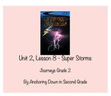 Journeys Unit 2, Lesson 8 Super Storms Smartboard Interactive Activity