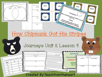 How Chipmunk Got His Stripes Journeys Unit 2 Lesson 9 (Crafts and Printables)