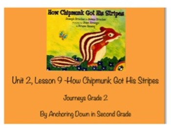 Journeys Unit 2, Lesson 9 How Chipmunk Got His Stripes Smartboard Activity