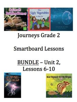 Journeys Unit 2, Lessons 6-10 BUNDLE Smartboard Interactive Activity