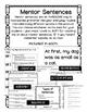 Journeys Unit 2 Mentor Sentences