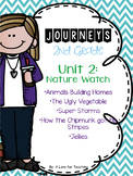 Journeys Unit 2 Nature Walk Grade 2 {Editable}