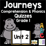 Journeys - Unit 2 Quizzes - 1st Grade