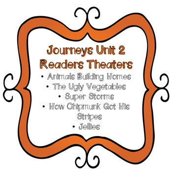 Journeys Unit 2 Readers Theaters Second ( 2nd ) Grade