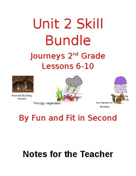 Journeys Unit 2 Reading Skills Bundle