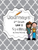 Journeys 2nd grade Unit 2 Spelling Activities