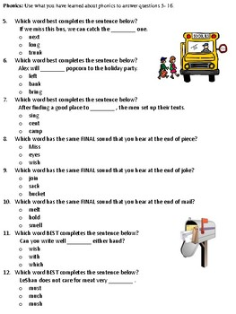 Journeys Unit 2 Test - Grade 2