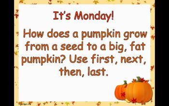 """Journey's 1st Grade Unit 2 Trade Book """"From Seed to Pumpkin"""" PowerPoint"""