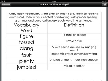 Journeys First Grade Unit 2 Oral Vocabulary words/definitions/ assignment