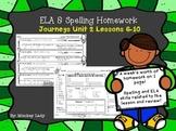 Journeys Unit 2 Weekly Homework for 2nd grade