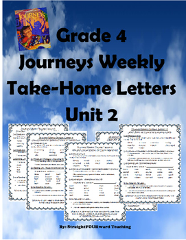 Journeys Unit 2: Weekly Parent Letters