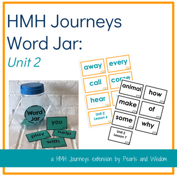 Journeys Unit 2- Word Jar- Words to Know