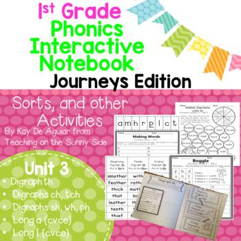 Journeys Unit 3 1st Grade Phonics Skills, Interactive Note