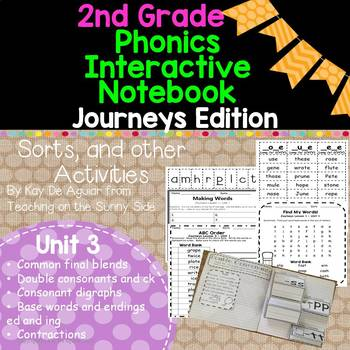 2nd Grade Phonics Interactive Notebook, Sorts, and More:  Journeys Edition