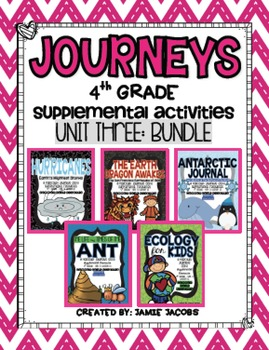 Journeys Unit 3 Bundle - Fourth Grade Supplemental Material