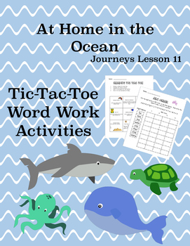 Journeys Unit 3 Bundle Tic Tac Toe Activities