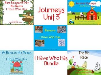 Journeys Unit 3 I Have Who Has Bundle