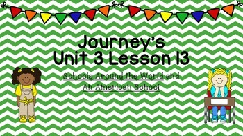 Journeys Unit 3 Lesson 13 Vocabulary Introduction PowerPoint