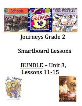 Journeys Unit 3, Lessons 11-15 BUNDLE Smartboard Interactive Activity