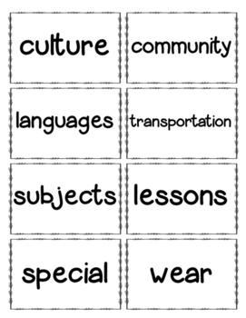 Journeys Unit 3 Second Grade Vocabulary Cards FREE!