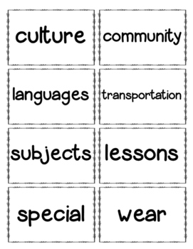 Journeys Unit 3 Second Grade Vocabulary Cards FREE!