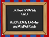 Journeys Unit 3 Sight Word Mix it and High Frequency Cards