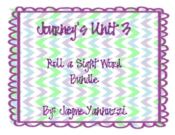 Roll a Sight Word {Journeys Unit 1 Edition First Grade}