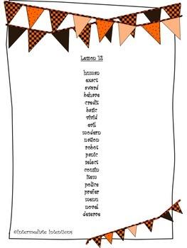 Journeys Unit 3 Spelling Lists - 5th Grade