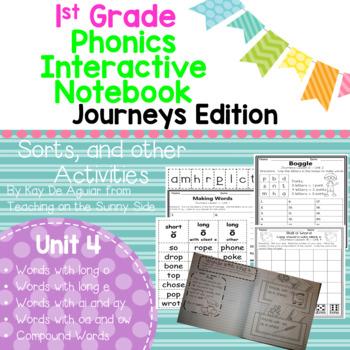 Journeys Unit 4 1st Grade Phonics Skill, Interactive Noteb