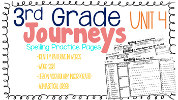 Journeys: Unit 4 3rd Grade Spelling Practice