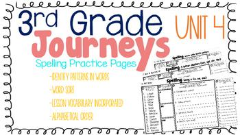 Journeys: Unit 4 3rd Grade Spelling Practice