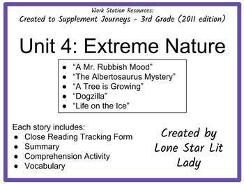 Journeys Unit 4 - 3rd Grade (Supplemental Materials)
