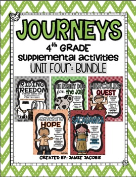 Journeys Unit 4 Bundle - Fourth Grade Supplemental Material