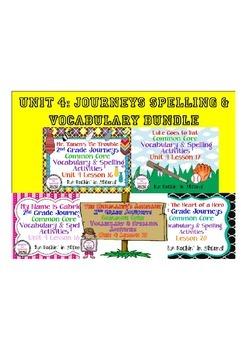 Journeys Unit 4 Bundle Spelling & Vocabulary Activities 2nd grade