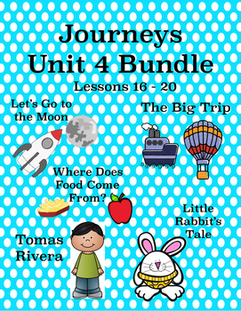 Journeys Unit 4 Bundle Tic Tac Toe Activities