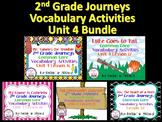 Journeys Unit 4 Bundle Vocabulary Activities 2nd grade